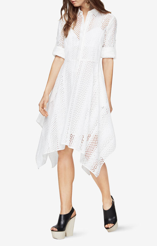 Beatryce Eyelet Shirt Dress