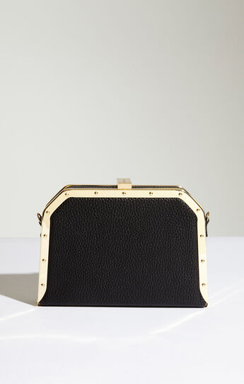 Leila Faux-Leather Clutch