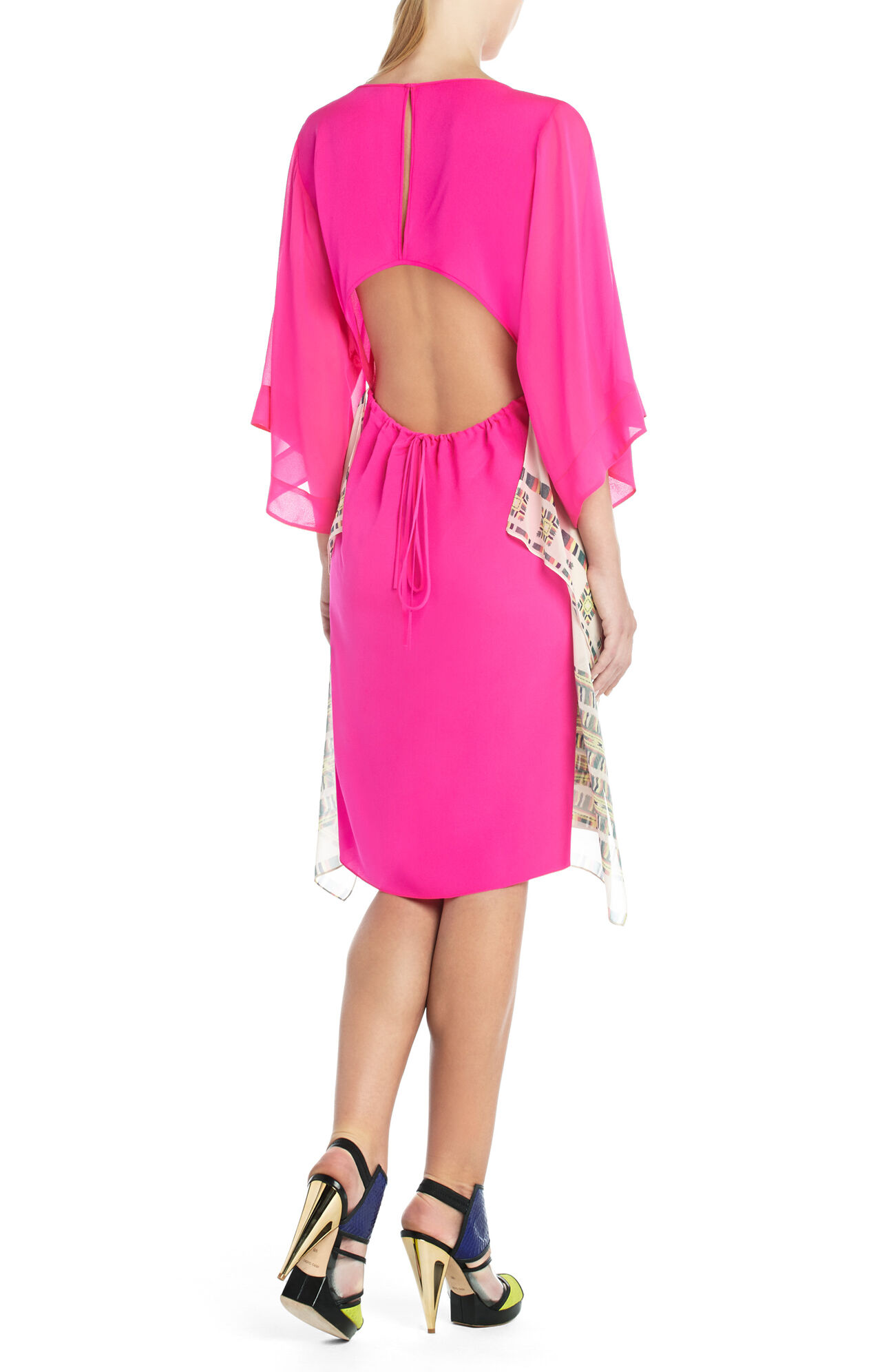 Runway Colette Draped-Hem Dress