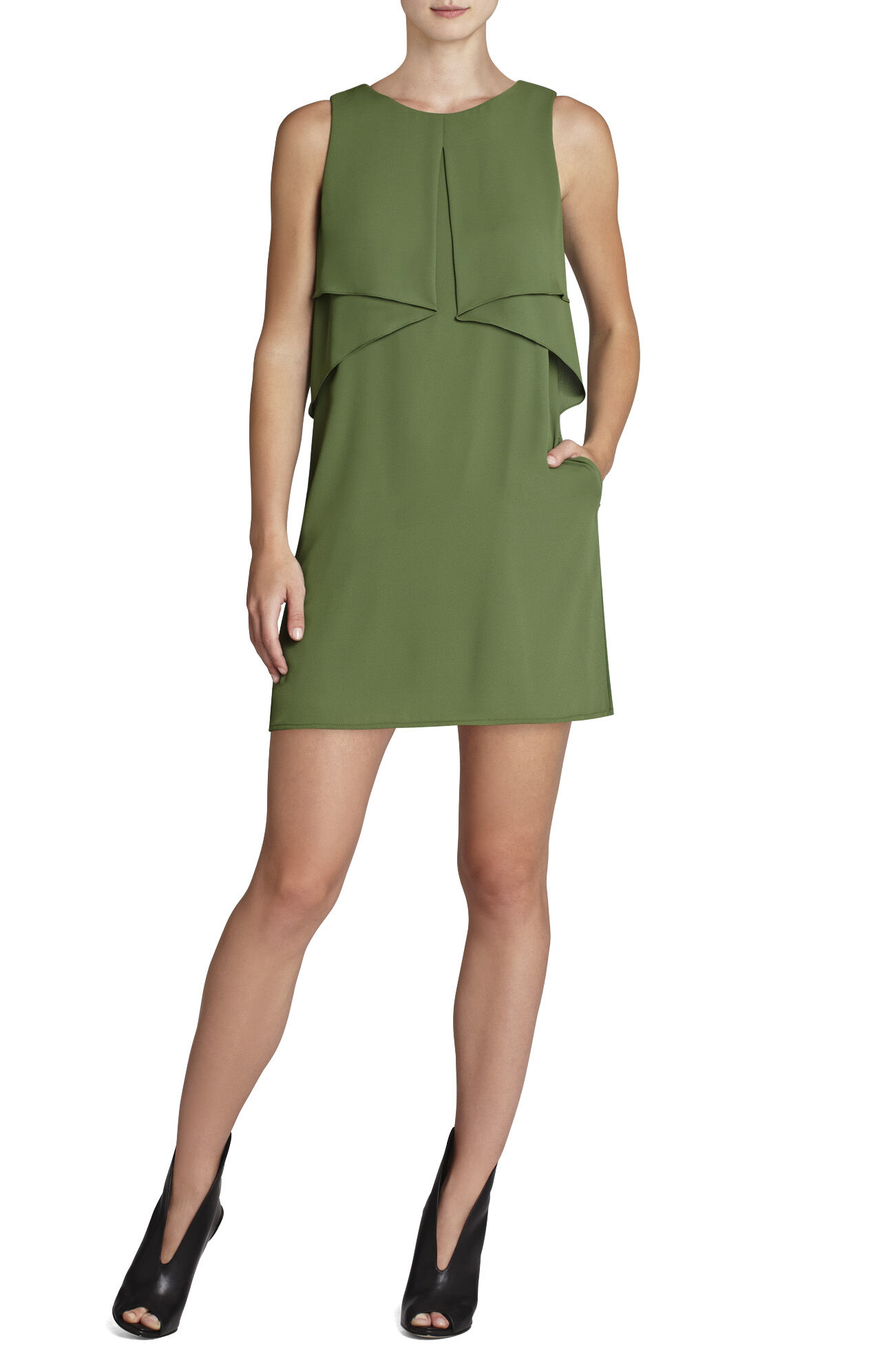 Amelie Sleeveless Draped Dress