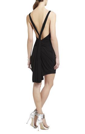 Terrianne Deep V-Neck Draped Dress
