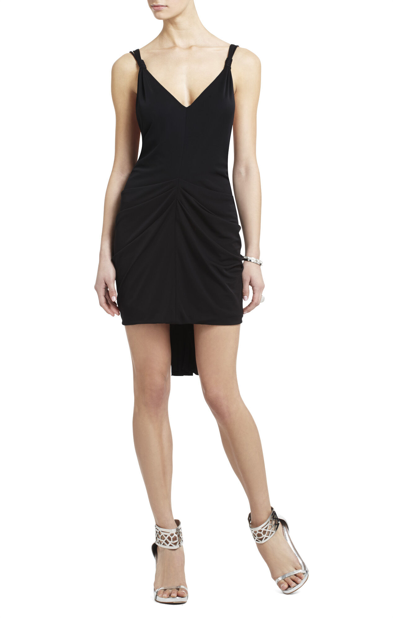 Terrianne Deep V-Neck Draped Dress