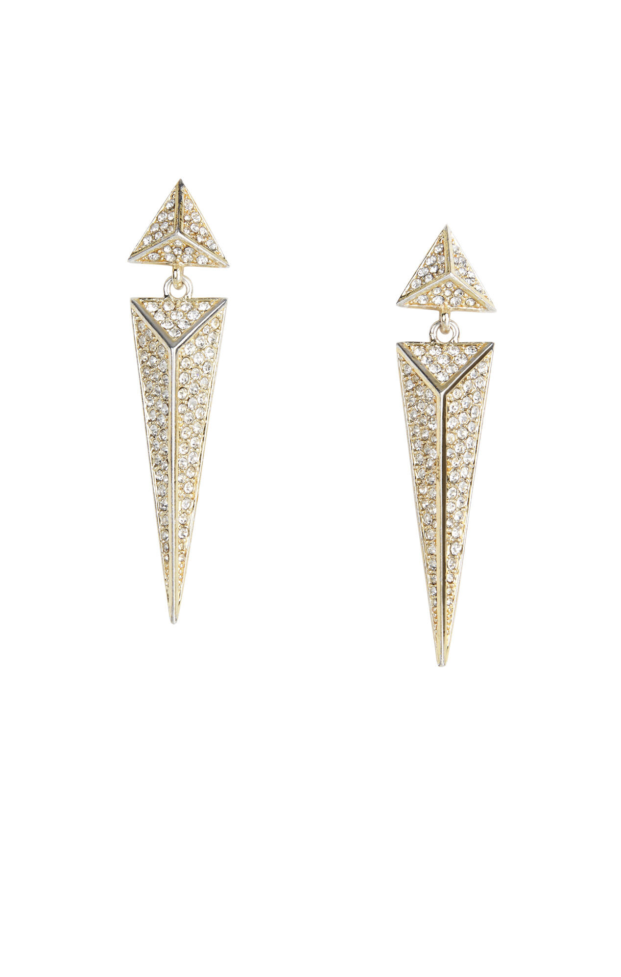 Pave Pyramid Earrings