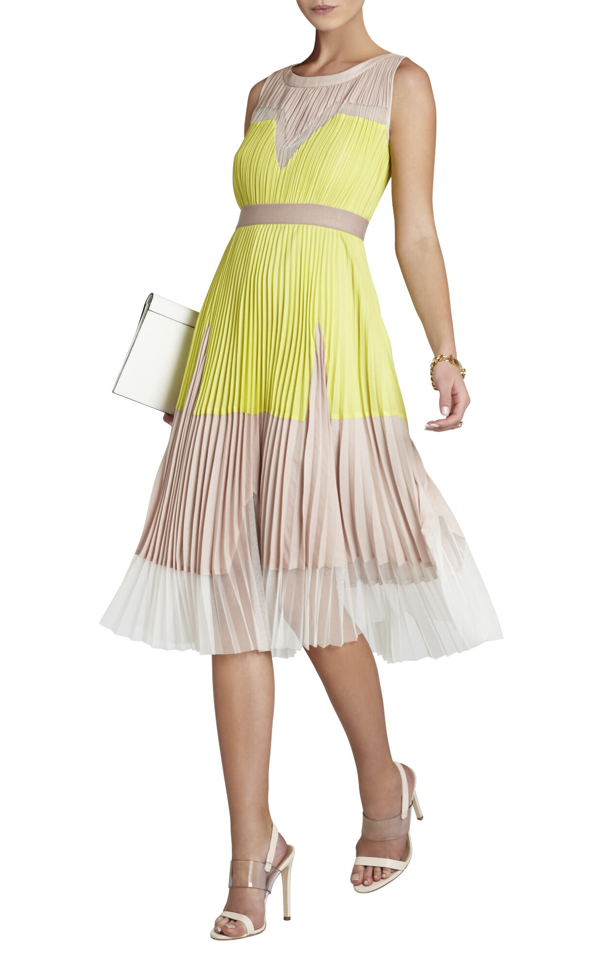 Lucea Color-Blocked A-Line Dress