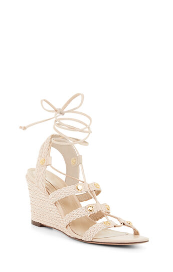 Sharlet Woven Leather Wedge Sandal