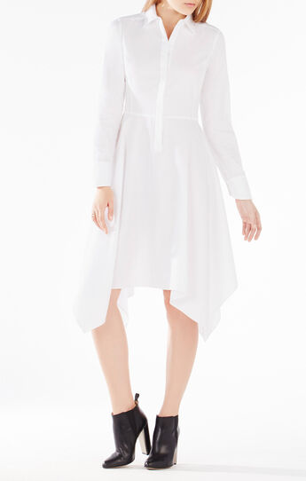 Beatryce Handkerchief-Hem Shirt Dress