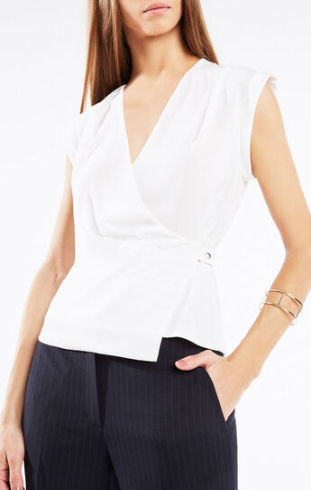 Maryah Sleeveless Wrap Top