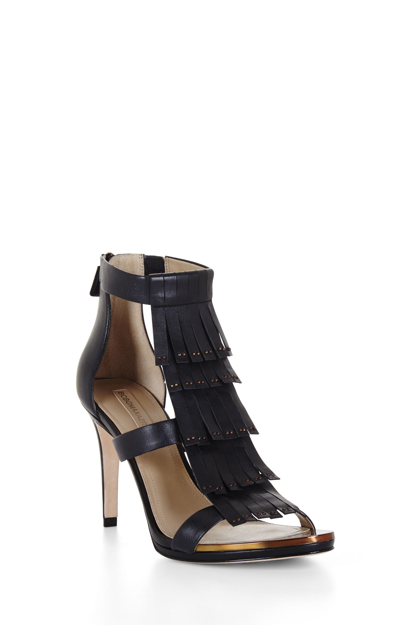 Leigh High-Heel Fringe Dress Sandal