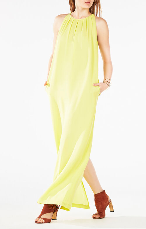 Ari Sleeveless Pleated Gown