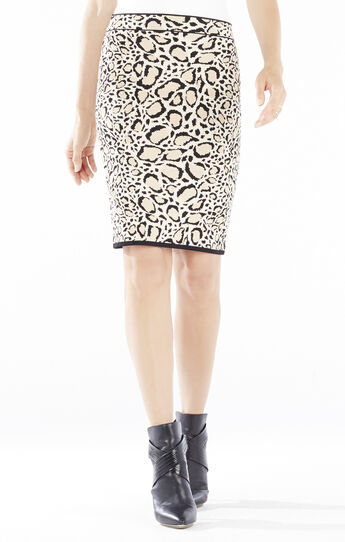 Pavel Ocelot Jacquard Pencil Skirt