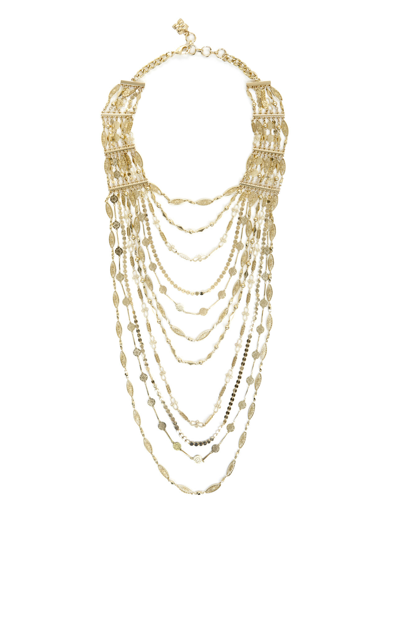 Draped Filigree Chain Necklace