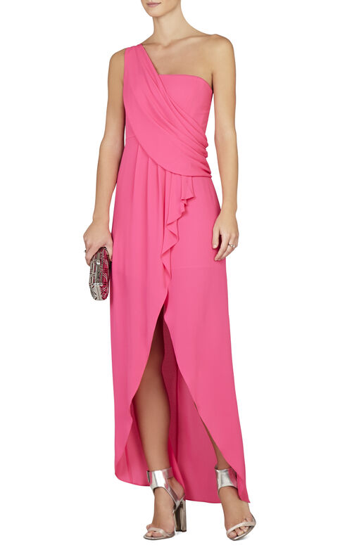 Kail Draped One-Shoulder Gown