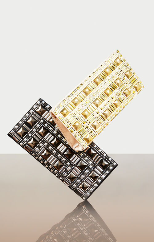 Beaded Stud Rectangle Clutch