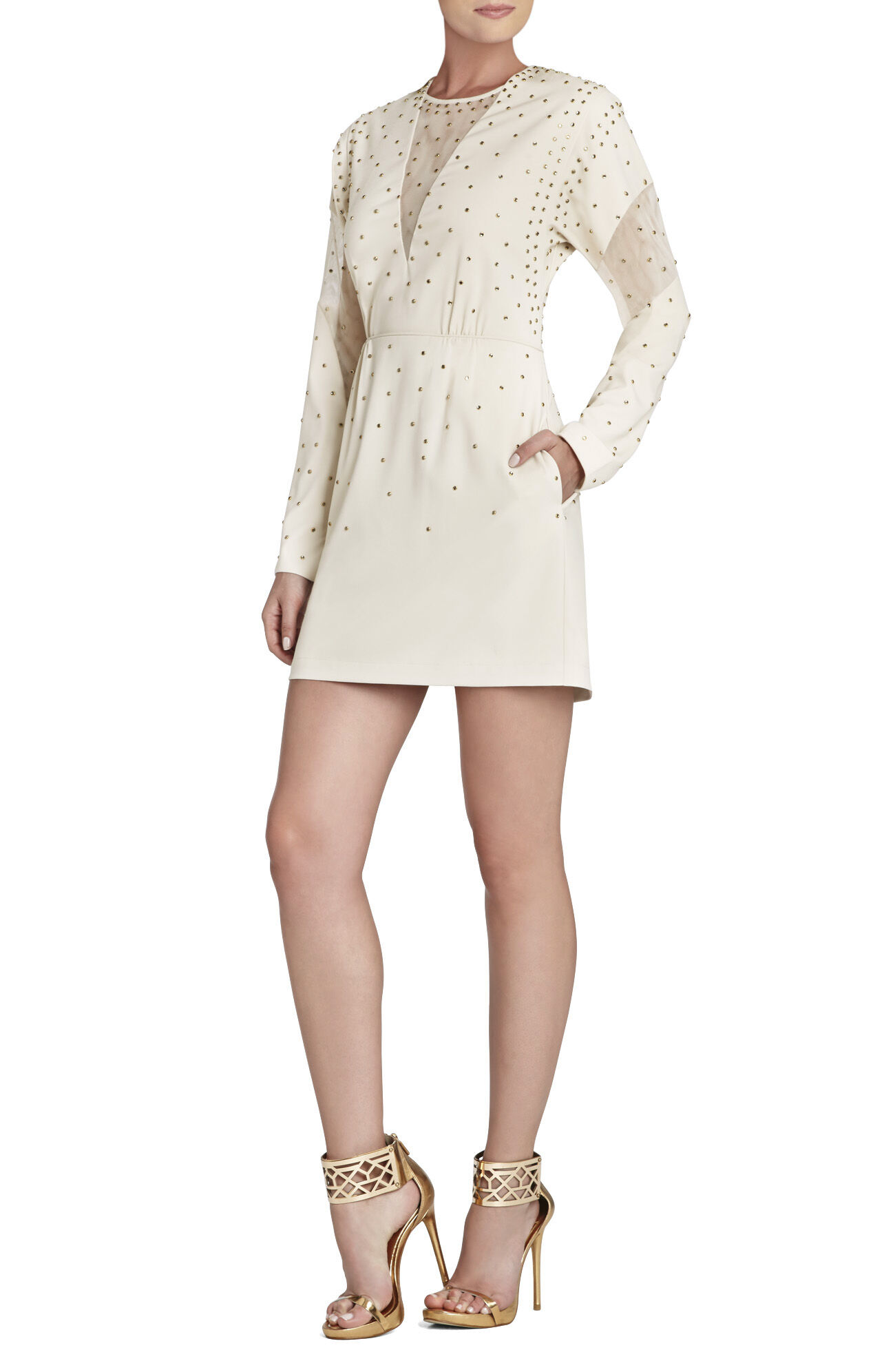Lake Rhinestone-Applique Cocktail Dress