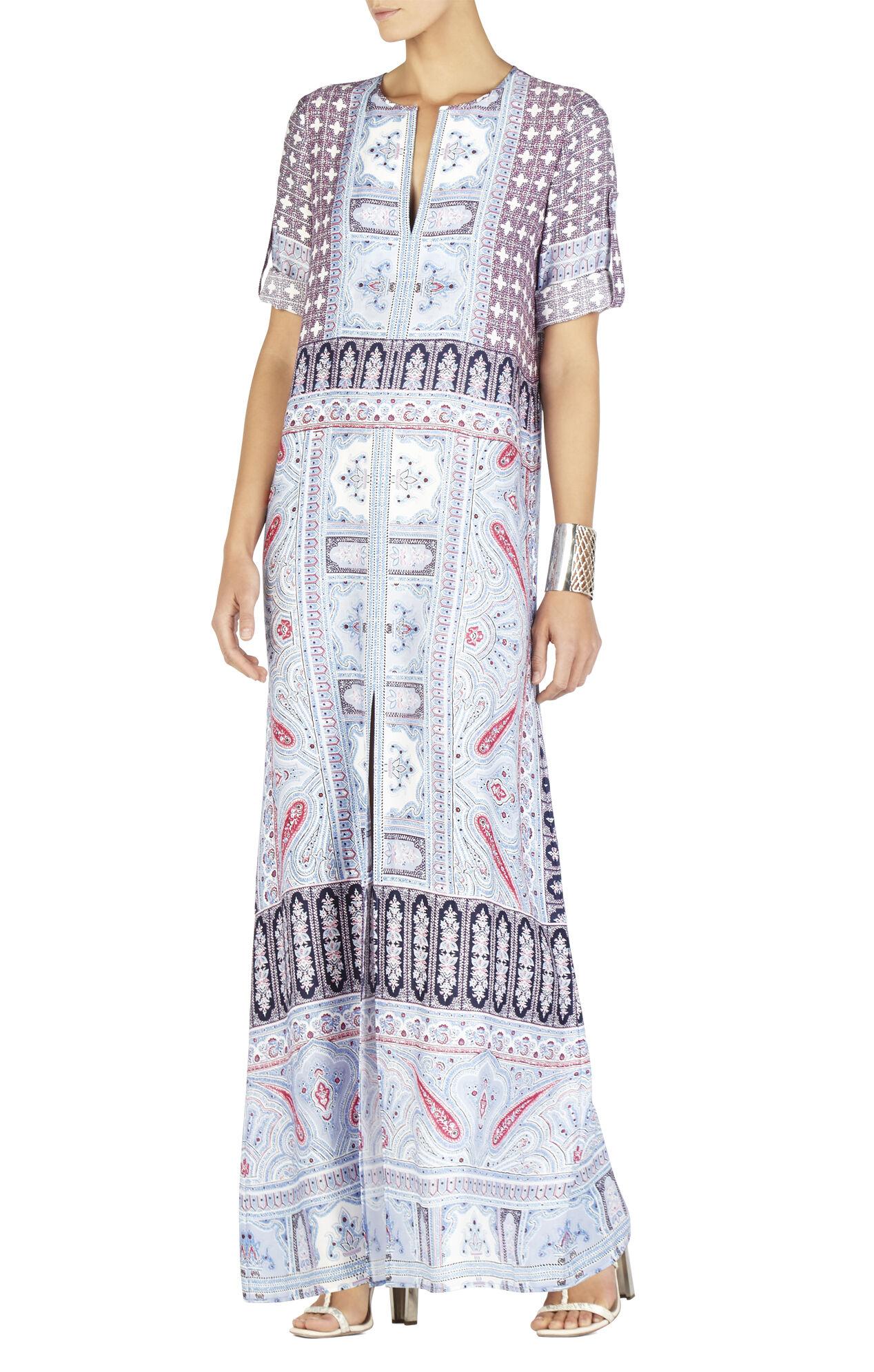 Olivia Scarf Printed Kaftan Dress