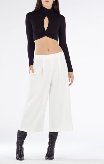 Natalia Turtleneck Twisted Crop Top