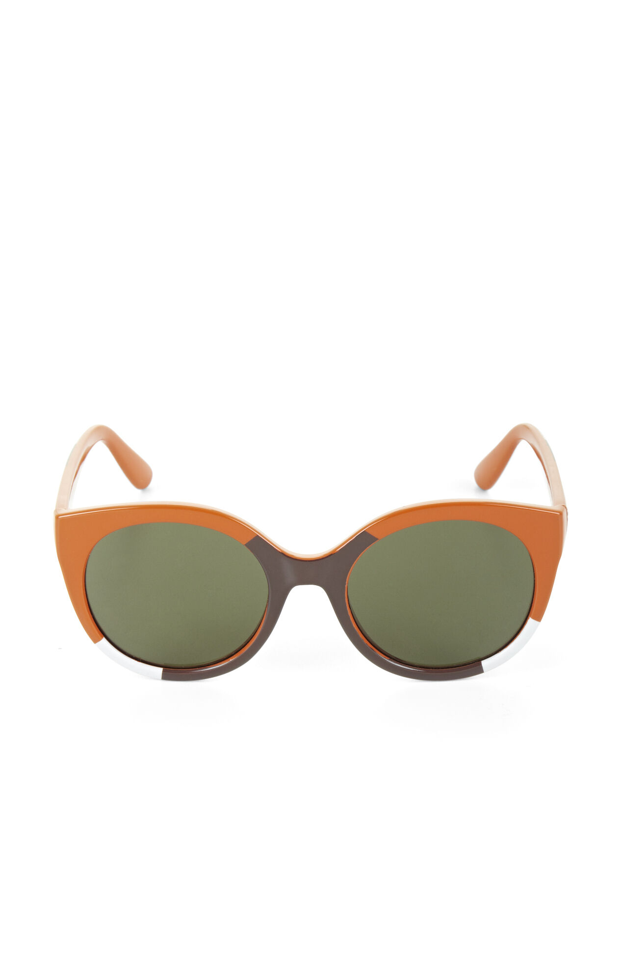 Color-Blocked Round Sunglasses