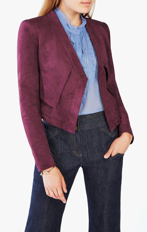 Luke Faux-Suede Cropped Jacket