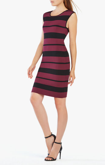 Striped Body-Con Dress
