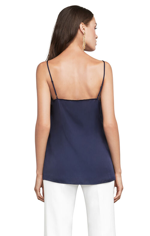 Kayley Asymmetrical Satin Tank