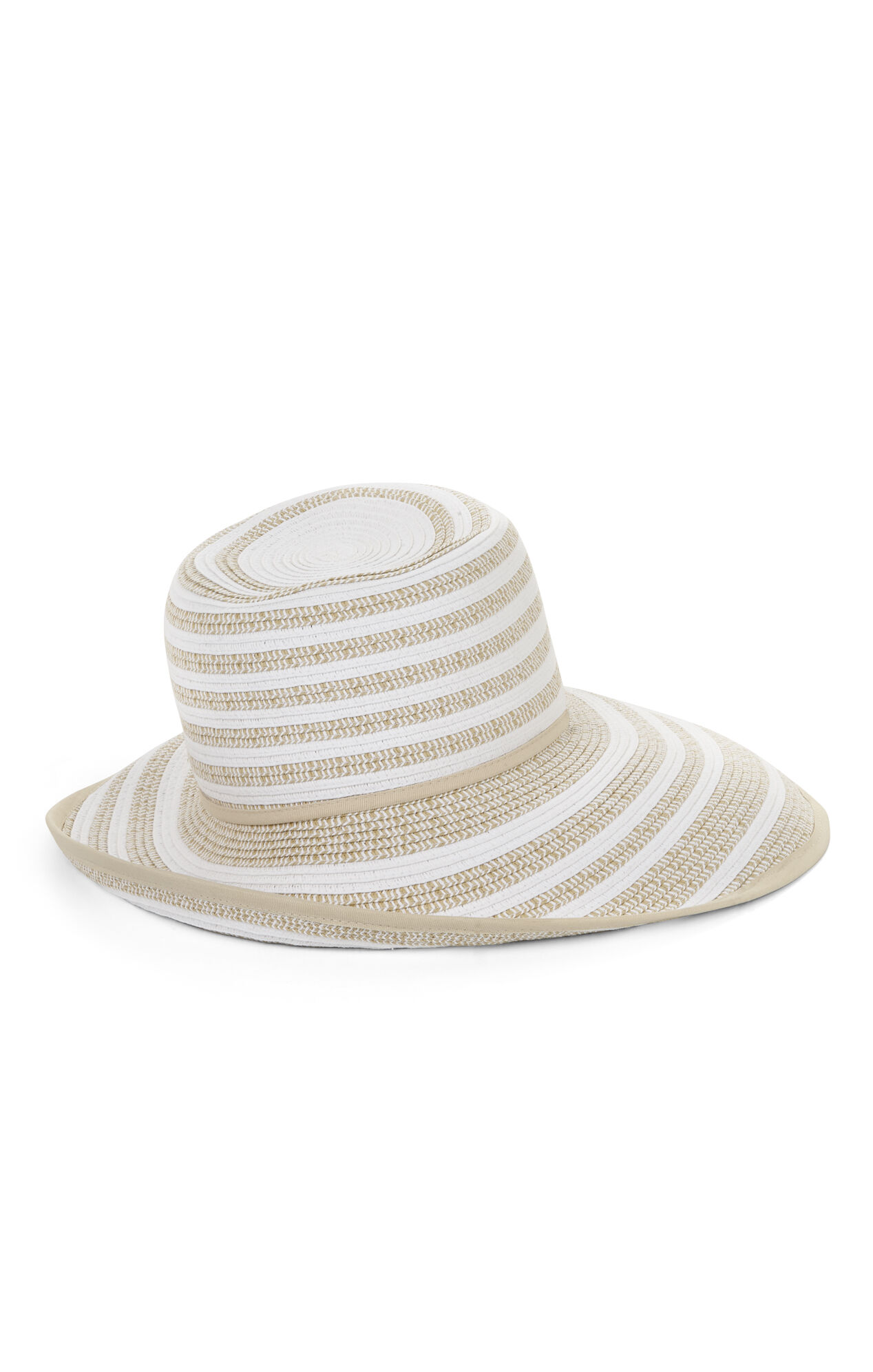 Asymmetrical Multistripe Hat