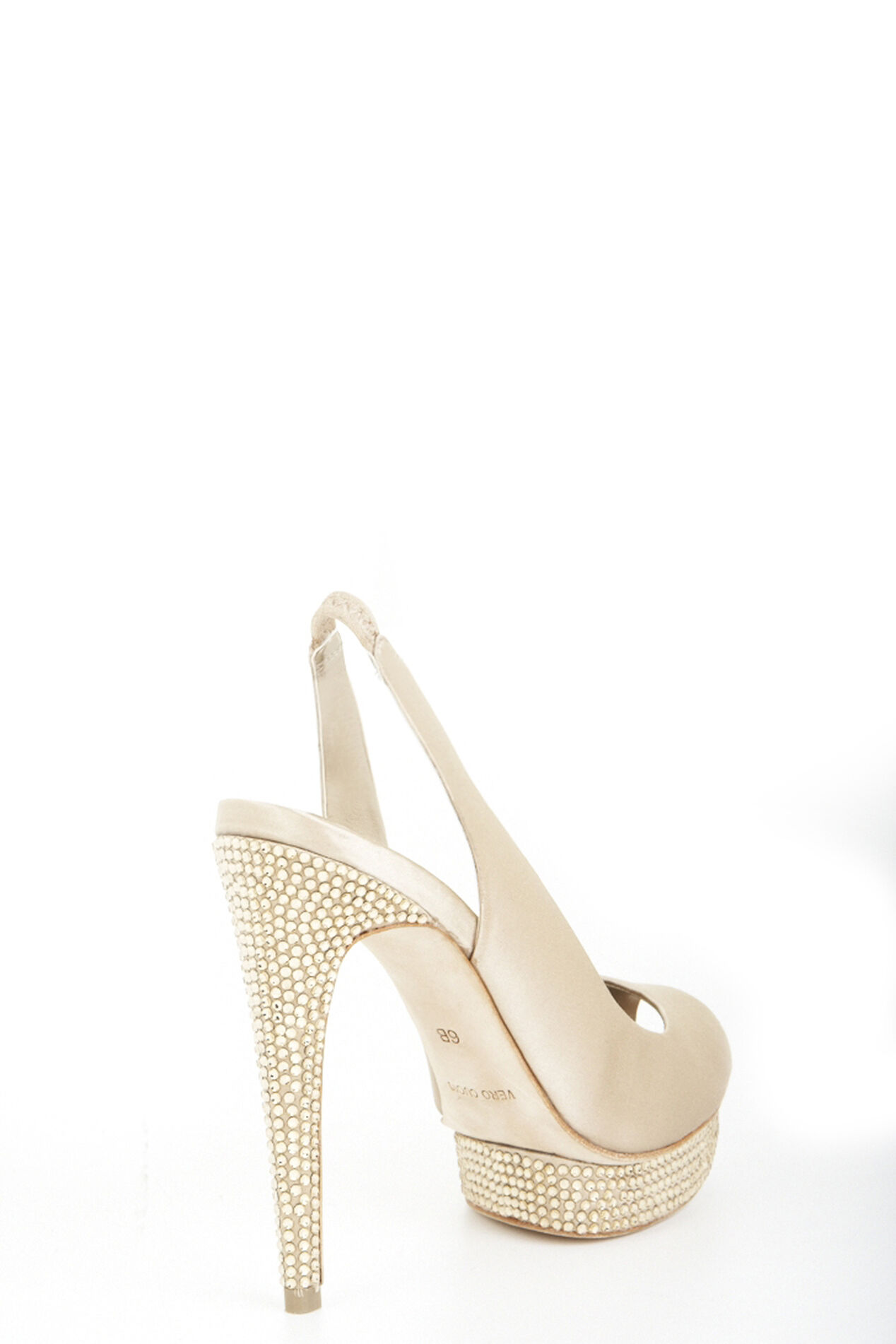 Falcon Peep-Toe Sling-Back Pump