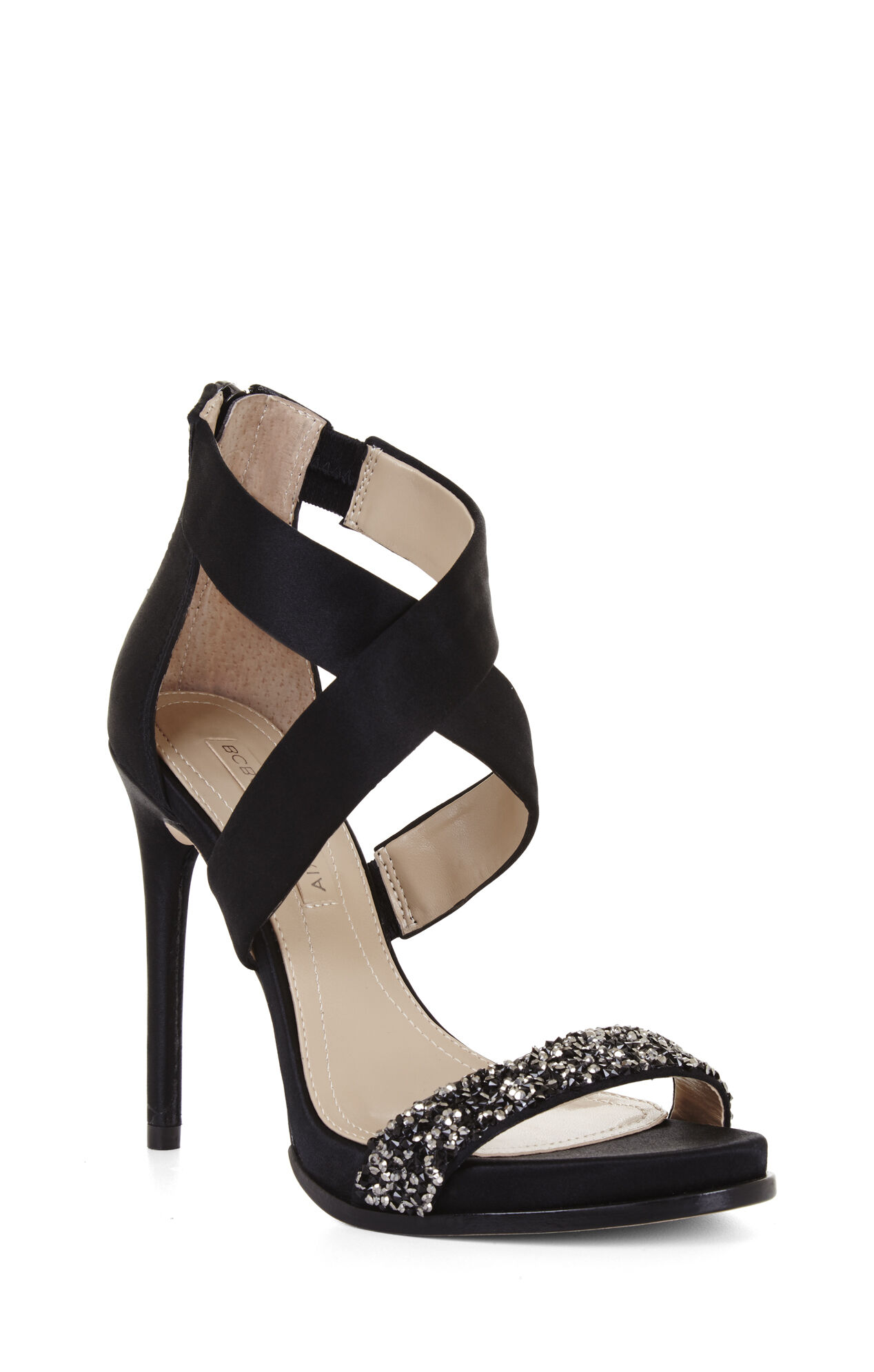 Elyse High-Heel Crisscross Ankle Day Sandal