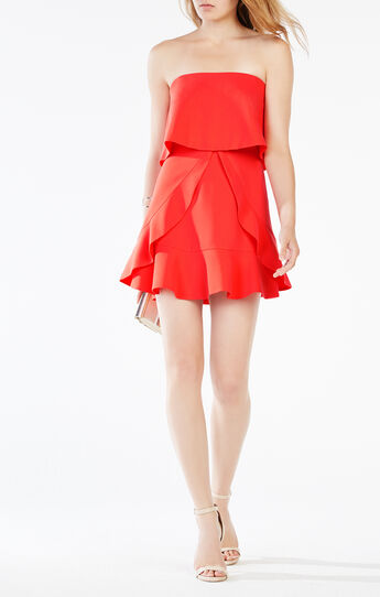 Charlot Strapless Ruffle Dress