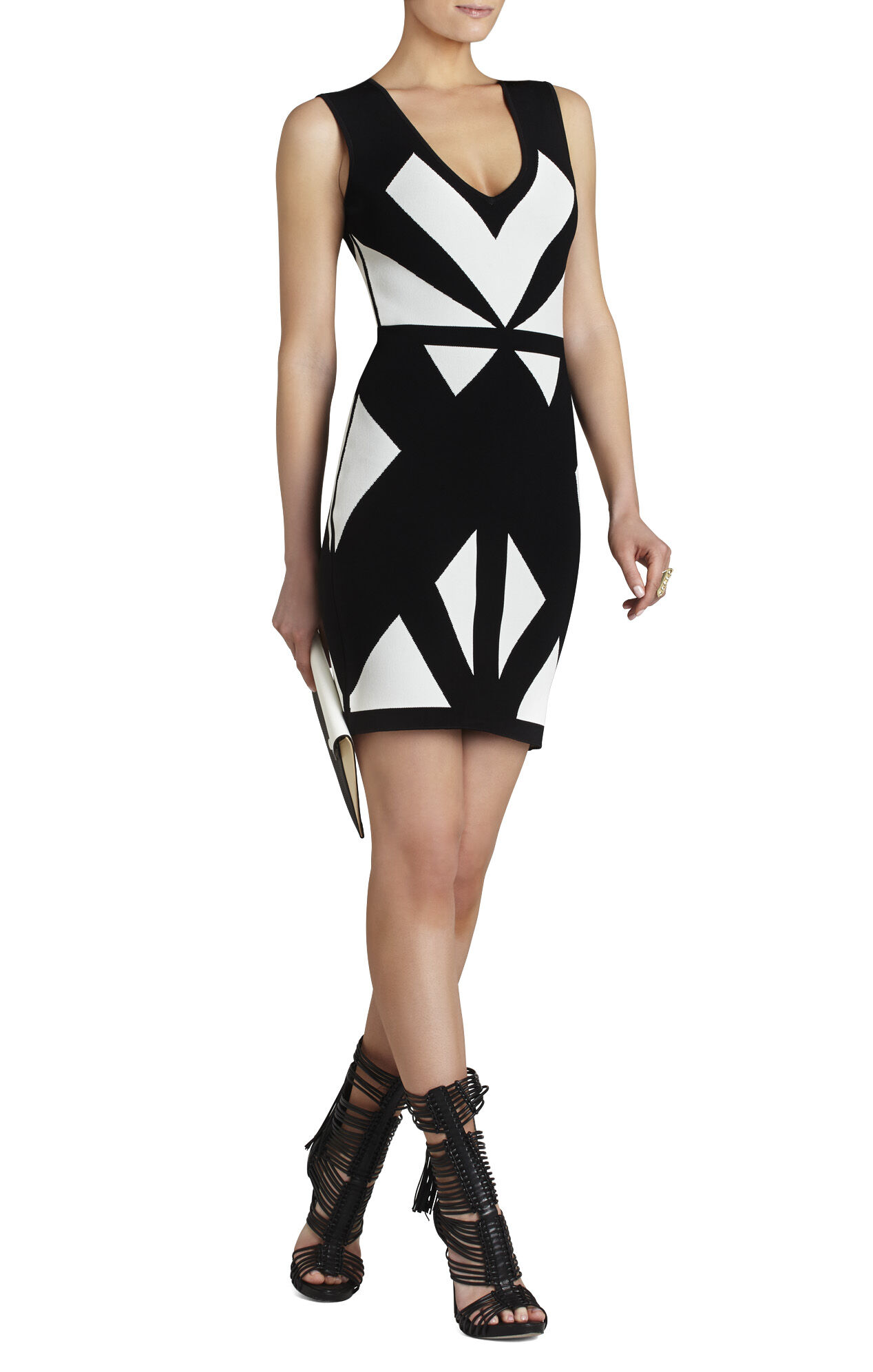 Evinna Geometric Jacquard Dress