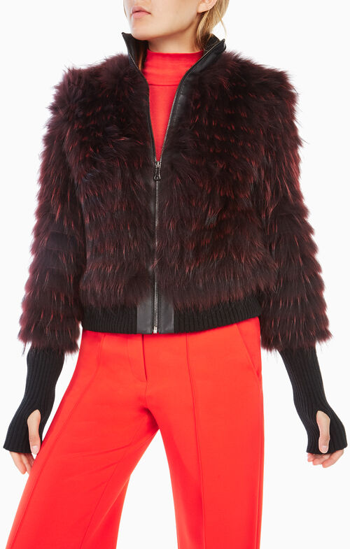 Jillian Fur Bomber Jacket