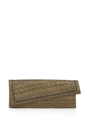 Leyna Straw Asymmetrical Clutch