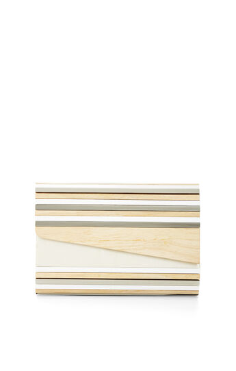 Simone Asymmetrical Wood Clutch