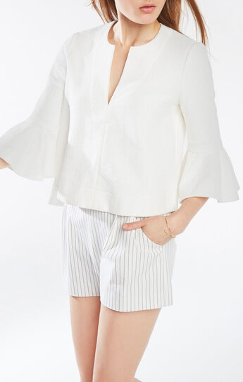 Valari Ruffle-Sleeve Top