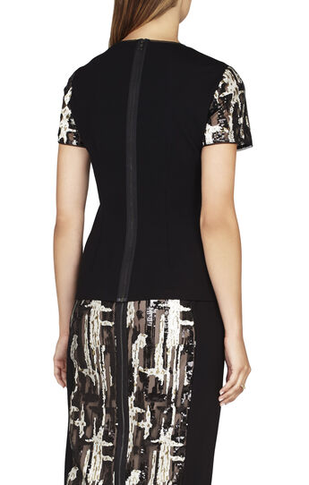 Larson Brushstroke Sequin Top