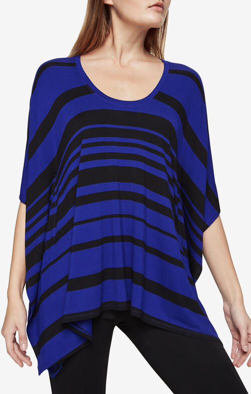 Lucilla Striped Poncho