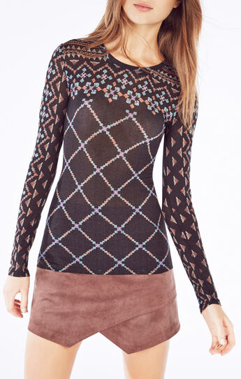 Agda Geometric Print Top