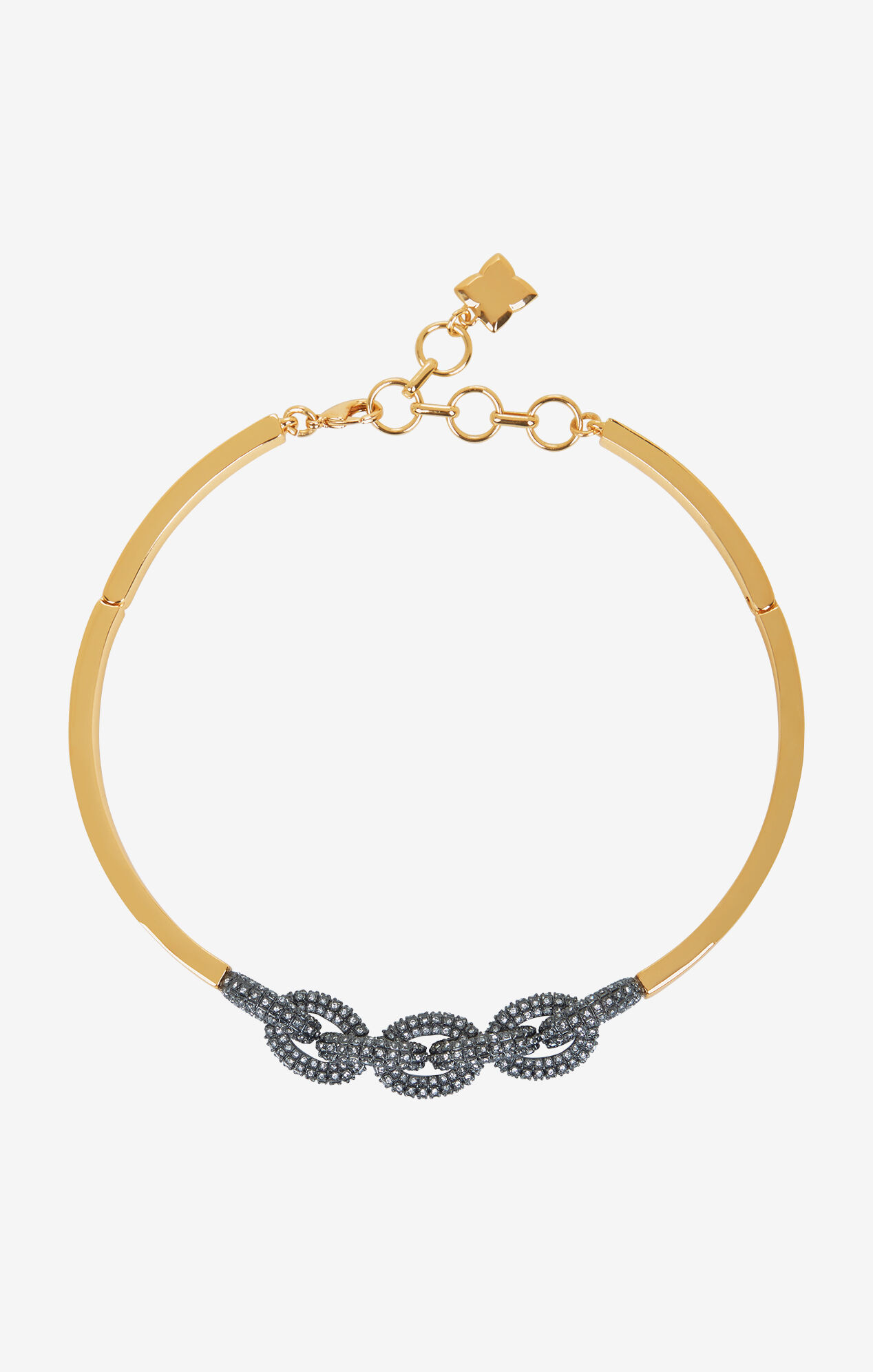 Pave Chain Link Necklace