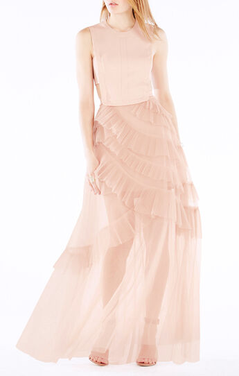 Avalon Sheer Cutout Gown