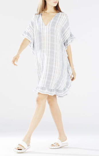 Dove V-Neck Ruffled Kaftan Dress