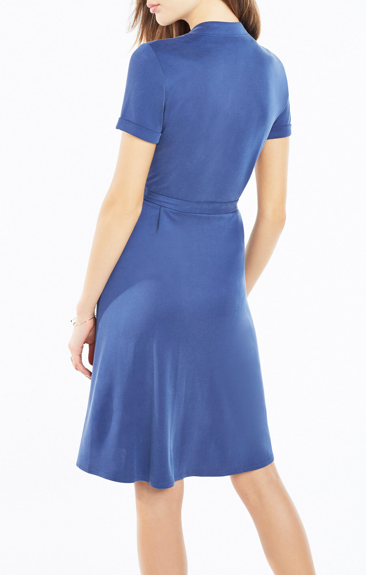 Izabell Collared Wrap Dress