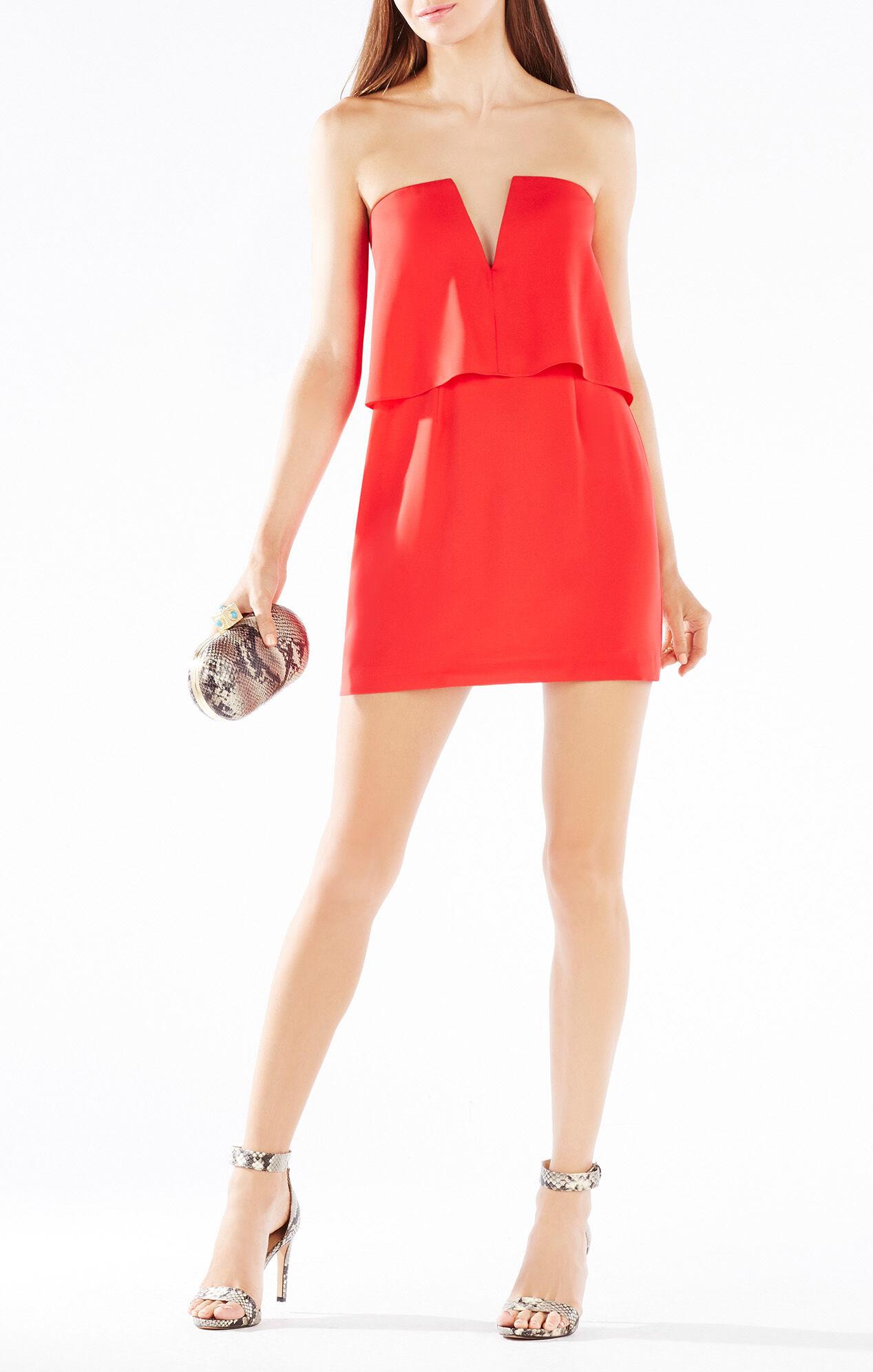 BCBGMAXAZRIA Kate Strapless Overlay Dress | BCBG.com