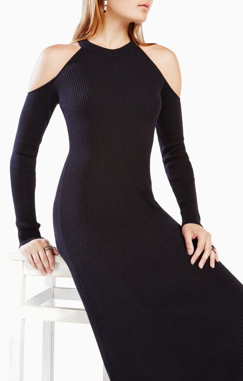 Ines Cold-Shoulder Sweater Dress