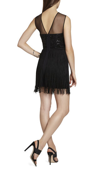 Melly Embroidered-Bodice Short Dress