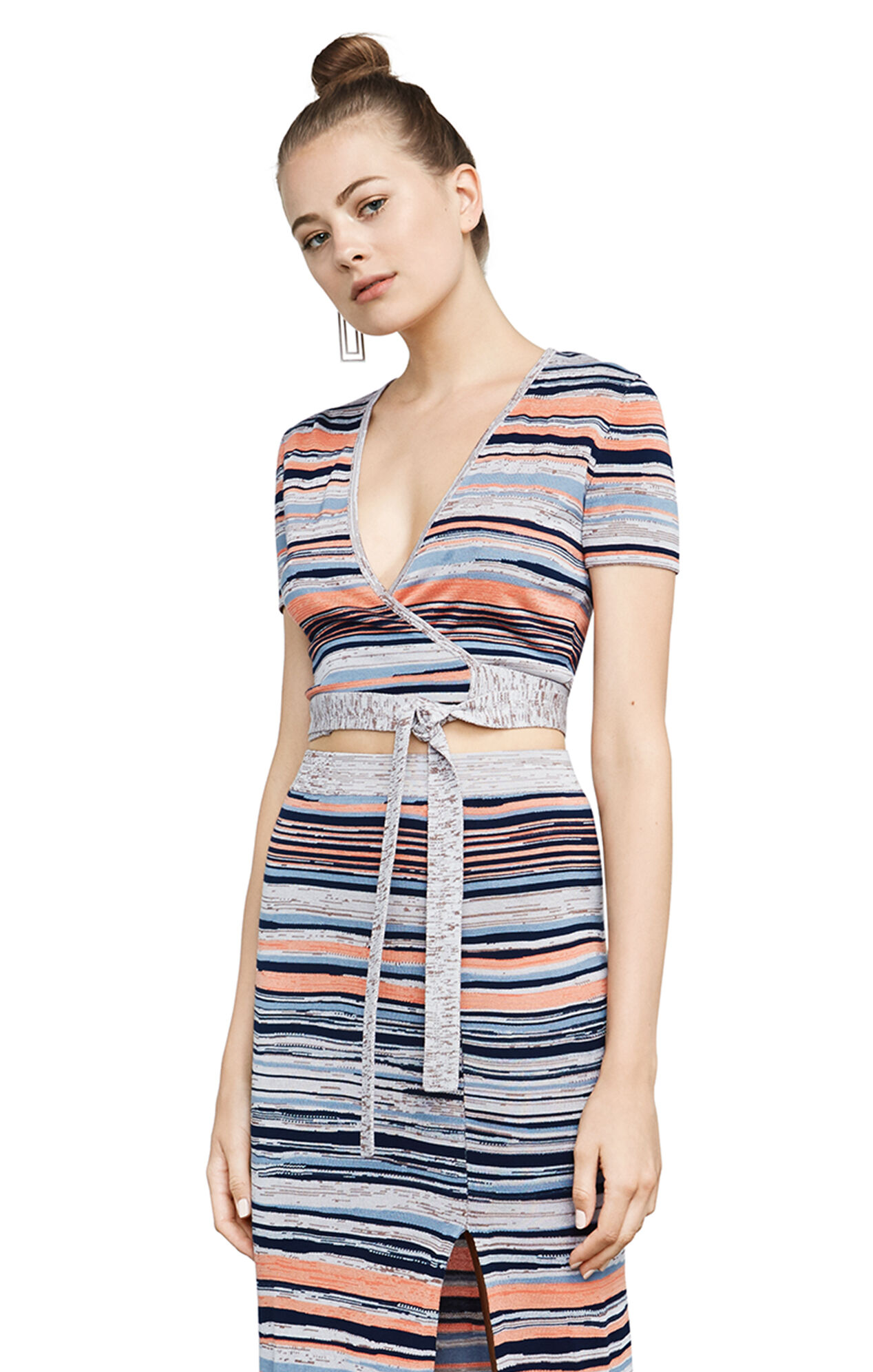 Amur Striped Wrap Top