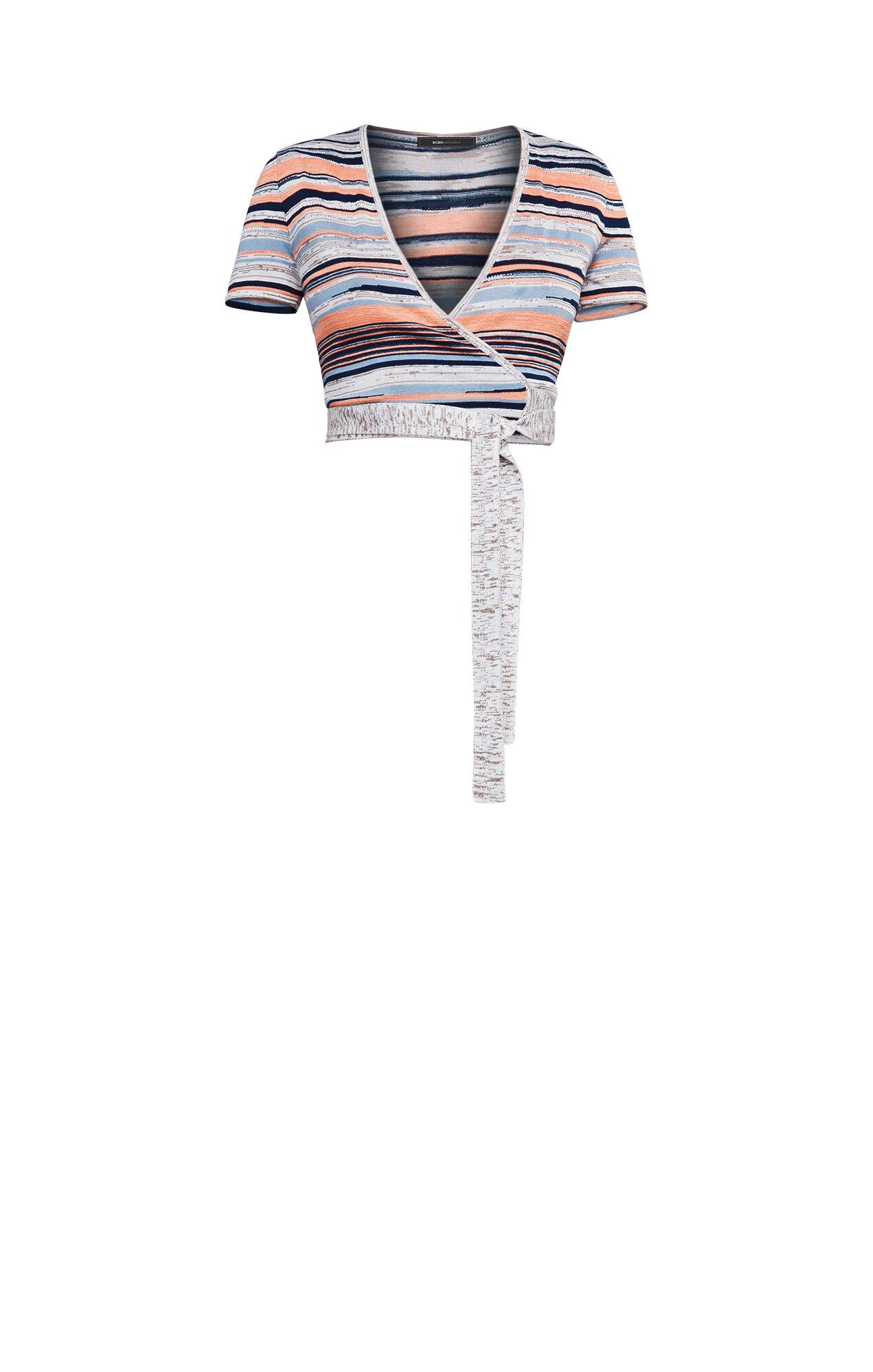 Amur Striped Wrap Top