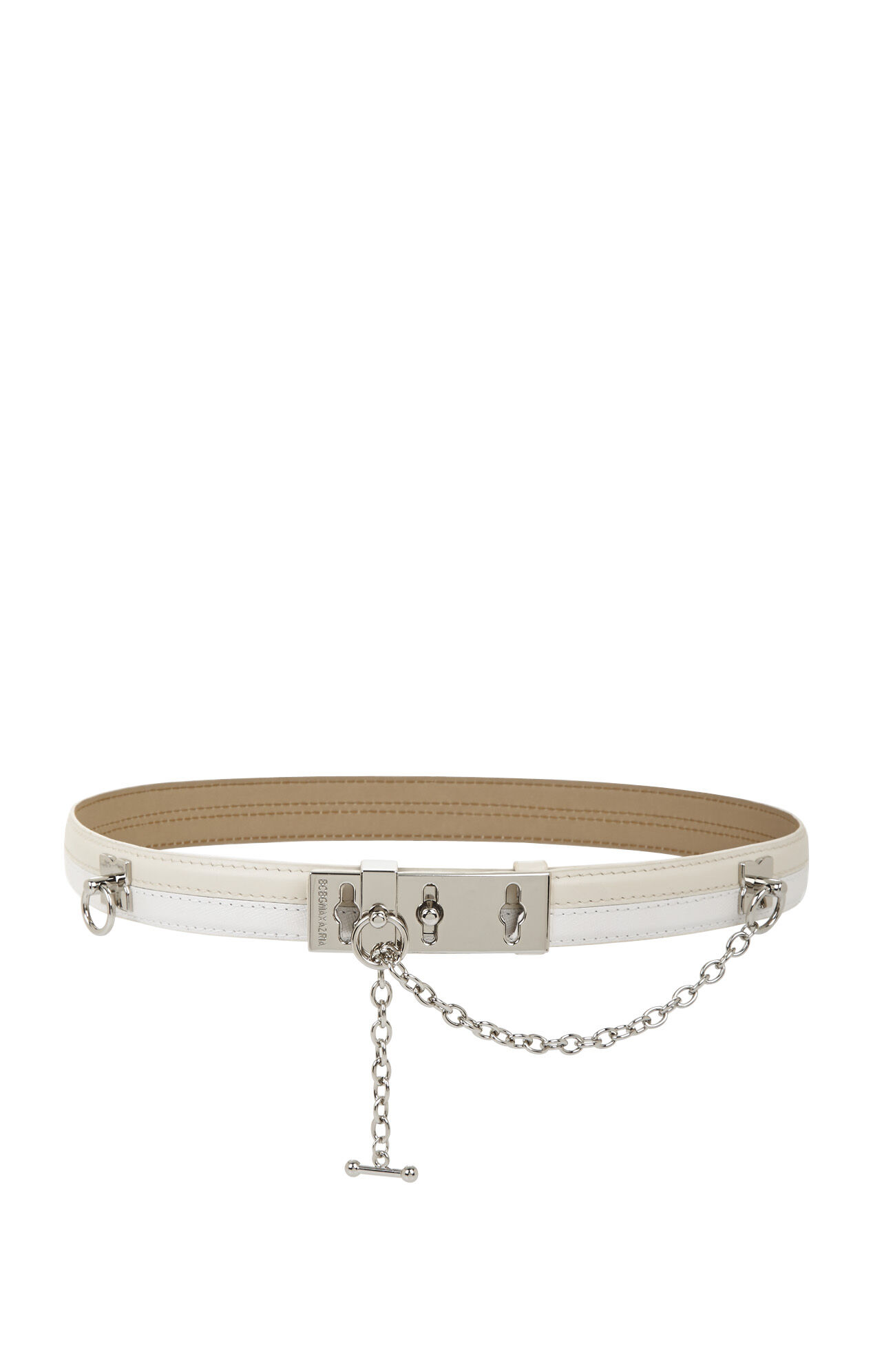 Thin Two-Tone Toggle Waist Belt