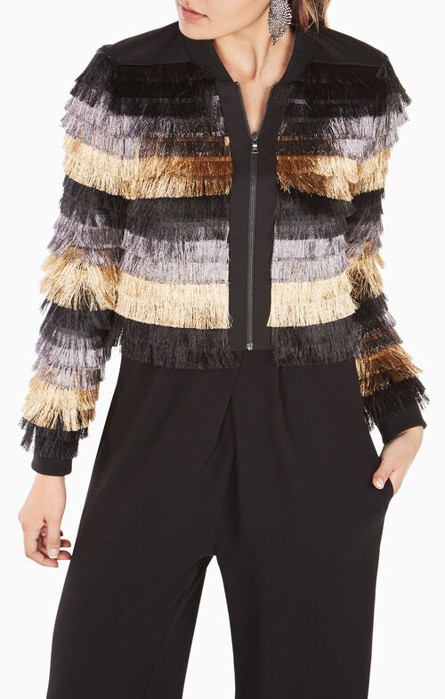 Darryn Metallic Fringe Jacket