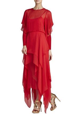Ally Kimono-Sleeve Gown