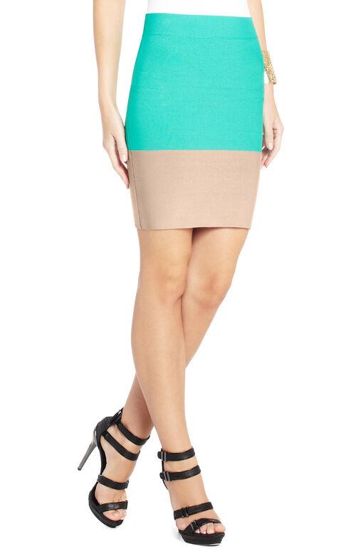 Scarlett Color-Blocked Power Skirt