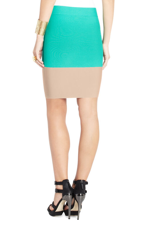 Scarlett Color-Blocked Power Skirt